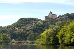 Feudal castle of Castelnaud Royalty Free Stock Photos