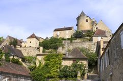 Feudal castle of Castelnaud Royalty Free Stock Photo