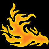 Feuer über Schwarzem Lizenzfreies Stockbild