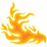 Feuer über Weiß Lizenzfreies Stockbild