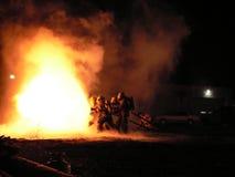 Feuer-Angriff stockbilder