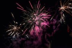 Feuer-Arbeiten während des Festes lizenzfreie stockfotografie