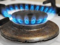 Feuer auf dem Ofen stockfotografie