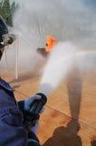 Feuer auf dem Unterricht des Ministeriums der Notsituationen Lizenzfreie Stockfotos