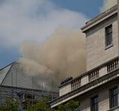 Feuer auf Strang, London Stockfotos