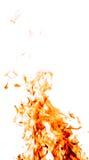 Feuer auf Weiß Stockfotografie
