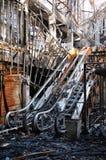 Feuer ausgeweideter Mall und Kino in Bangkok Stockfoto