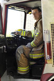 Feuer-Ausrüstungs-Bediener Stockfotografie