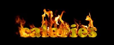Feuer-brennende Kalorien brennen fette trainierende Illustration Lizenzfreie Stockfotos