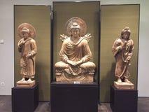 Feuer-Buddha-Triptychon Stockfotos
