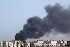 Feuer in der Stadt Stockbilder