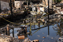 Feuer in der Stadt Stockfoto
