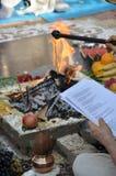 Feuer in der Vedic Hochzeit Lizenzfreie Stockbilder
