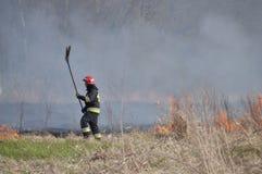 Feuer durch die Weichsel Stockfotografie