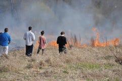 Feuer durch die Weichsel Lizenzfreie Stockbilder