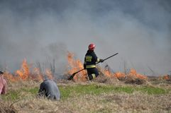 Feuer durch die Weichsel Lizenzfreies Stockbild