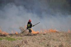 Feuer durch die Weichsel Lizenzfreie Stockfotos