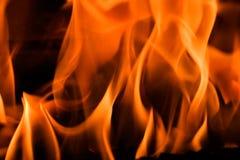 Feuer in einem Kamin Stockfoto