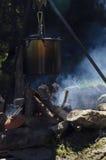 Feuer in einem Lager Stockfoto