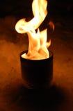 Feuer in einer Blechdose Lizenzfreie Stockbilder