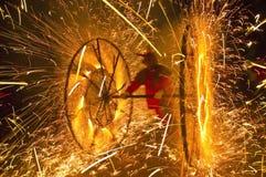 Feuer-Festival der katalanischen Regionen stockbild