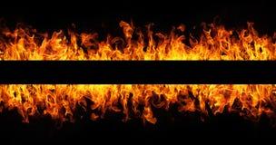 Feuer flammt Feld Stockbild