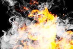Feuer flammt Hintergrund lizenzfreie stockfotos