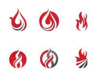 Feuer flammt Logoschablone Lizenzfreie Stockfotos