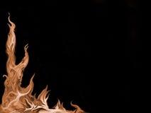 Feuer-geflammter Hintergrund Lizenzfreies Stockbild