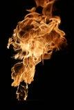 Feuer getrennt auf Schwarzem Lizenzfreie Stockfotografie