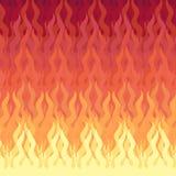 Feuer getrennt auf Schwarzem vektor abbildung