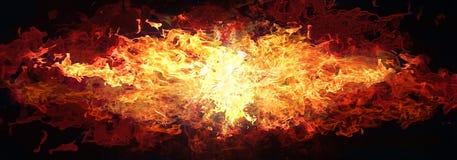 Feuer getrennt auf Schwarzem Stockfotos