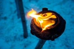 Feuer-Glas Stockfotografie
