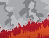 Feuer-großer Rauch Stockfotos