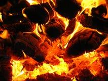 Feuer hölzerner Burning im Ofen Stockfotografie