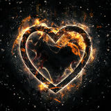 Feuer-Herz Stockfotos