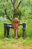 Feuer Hidrant Nahes hohes des Hydranten Hydrantnahaufnahme Einzelne Feuerhydraulische Lizenzfreie Stockbilder