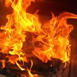 Feuer Hintergrund Royalty Free Stock Photo