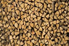 Feuer-Holz-Stapel Lizenzfreie Stockbilder