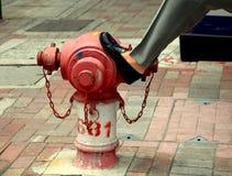 Feuer-Hydrant-städtische Szene Stockfotografie