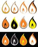 Feuer-Ikone Stockbild