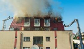 Feuer im Dachboden Stockfotografie