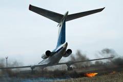 Feuer im Flughafen Stockbild