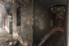 Feuer im Gefängnis Lizenzfreies Stockfoto