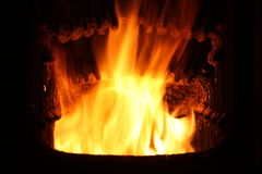 Feuer im Hauptofen. Stockfotos