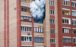 Feuer im Haus Stockbild