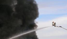 Feuer im Himmel Stockbild