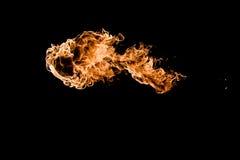Feuer im schwarzen Hintergrund Stockbild