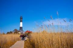 Feuer-Insel-Leuchtturm Lizenzfreies Stockfoto