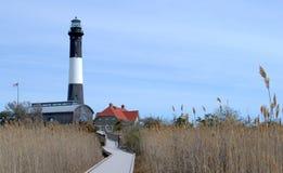Feuer-Insel-Leuchtturm Stockbilder